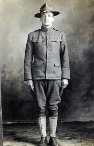"William H. Goulet, Jr., ""Bill,"" in his WWI uniform, 1918. He was Mabel's older brother."