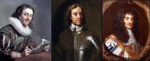 Charles I, Oliver Cromwell, Charles II