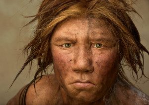 Reconstruction of Neanderthal Woman, National Geographic.