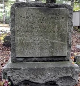 Theophilus Whale memorial stone