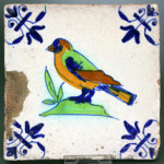 17th century Dutch tile