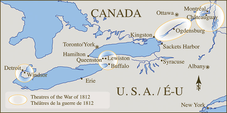 War of 1812 Battle Sites in the Great Lakes region