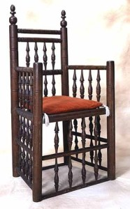 William Bradford's chair, now in the Plymouth Historical Museum