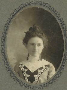Bertha Bell about 1899, when a teacher