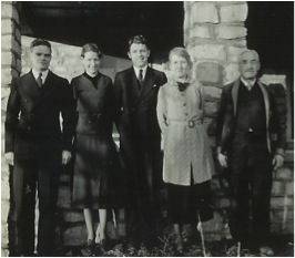 Pictured: Neill, Eleanor, John Jr., Bertha and John, De Soto, Kansas, in 1937.