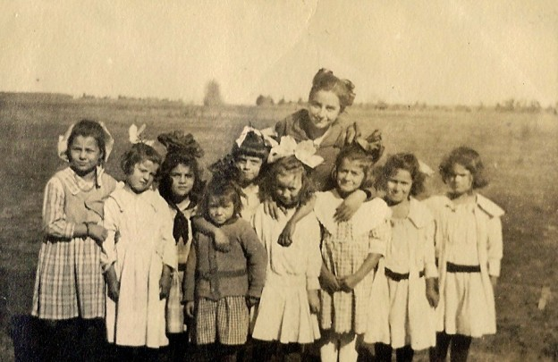 Alvis Love, third from right, Atwater School, Livingston, CA, about1918