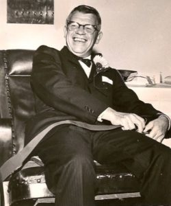 John Whitelaw at his retirement party, Portland, 1963.