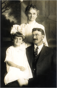 Alvis and her maternal grandparents, Florence and W.H. Goulet, Woodburn, about 1916