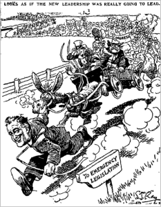 Political cartoon, The Kansas City Star, 1933