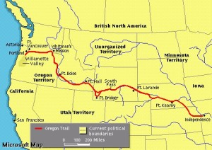 The Oregon Trail (Google Images, Microsoft Maps)