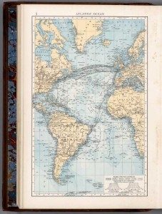 Sea Routes on the Atlantic Ocean. The Times Atlas, new edition, 1900, pub. London.