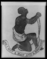 Design of the medallion created as part of anti-slavery campaign by Josiah Wedgwood, English potter, 1780.