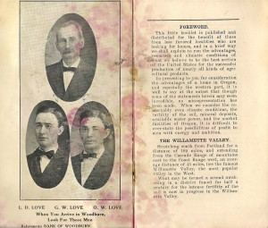 Love Real Estate Brochure, about 1911, Woodburn, Oregon