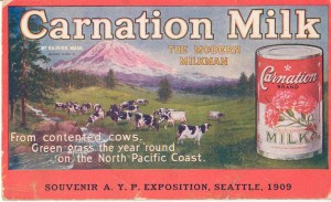Postcard of Carnation Milk Company, 1909