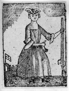 Woodcut of a Woman in the Revolutionary War, 1779