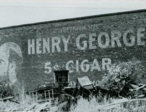 Early 20th century cigar sign, Spokane, Washington. Photo by Larry Mann. Source: http://www.narhist.ewu.edu/pnf/articles/s1/iii-2-3a/historical_signs/historicalsigns.html