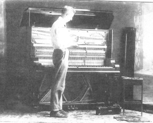 Charles Love, piano tuner, Michigan, perhaps about 1935