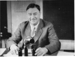 Lewis Love, Justice of the Peace, courtroom, Livingston, CA, 1933