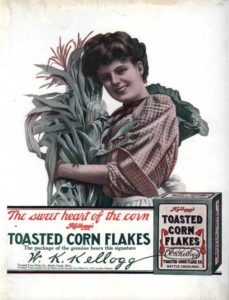 Historic ad for Kellogg's corn flakes